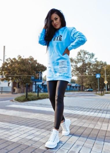 Bluza dresowa sugar blue