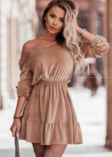 Sukienka velvet Camel