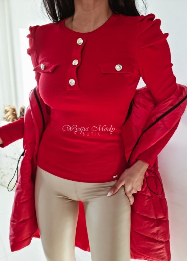 Bluzka prazek red
