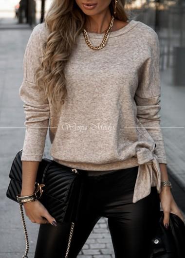 Sweter Cassie beige wiązany