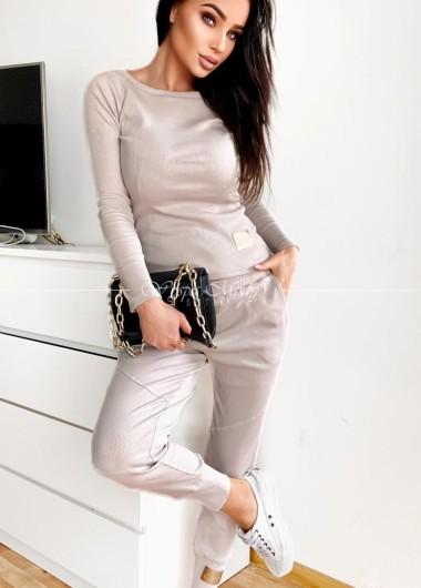 Spodnie laki beige