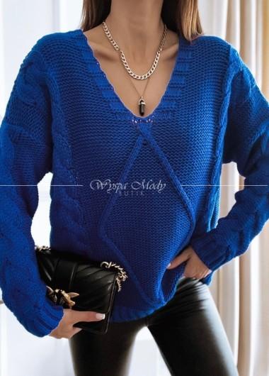 Sweter warkocz chaber