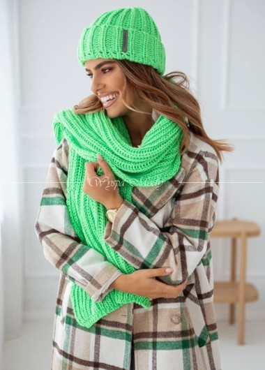 Szal gruby Winter green