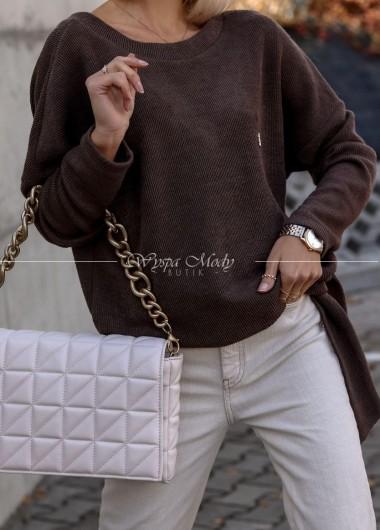 Sweterek wiązany brown