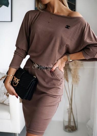 Sukienka Kat brown