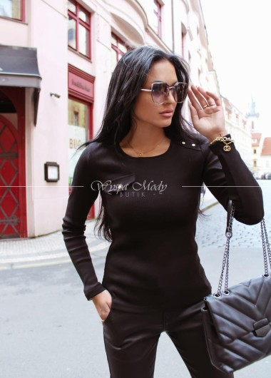 Bluzka prążek loka black