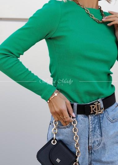 Bluzka prążek Chelsea green