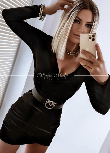 Sukienka Velvet przekładana black