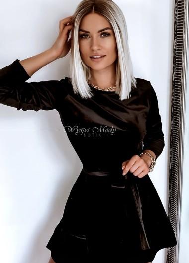 Sukienka Welur falbanka black
