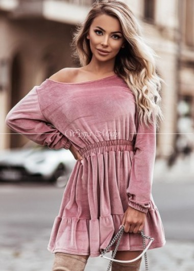 Sukienka velvet pink